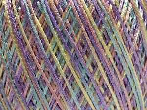 Fiber Content 100% Polyamide, Turquoise, Lilac, Light Yellow, Light Pink, Brand Ice Yarns, fnt2-65395