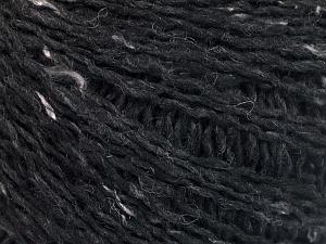 Fiber Content 30% Wool, 30% Acrylic, 25% Polyester, 15% Silk, Brand Ice Yarns, Black, fnt2-65405