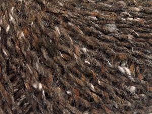 Fiber Content 30% Wool, 30% Acrylic, 25% Polyester, 15% Silk, Brand Ice Yarns, Brown, fnt2-65410