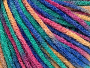 Fiber Content 60% Viscose, 20% Polyamide, 10% Wool, Purple, Pink, Light Green Orange, Brand Ice Yarns, fnt2-65430