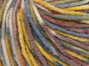 Fiber Content 60% Wool, 40% Acrylic, Purple Shades, Brand Ice Yarns, Gold, Cream, Blue Shades, fnt2-65433