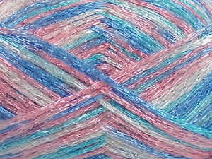 Fiber Content 50% Polyamide, 37% Acrylic, 13% Mohair, Pink Shades, Brand Ice Yarns, Cream, Blue Shades, fnt2-65449
