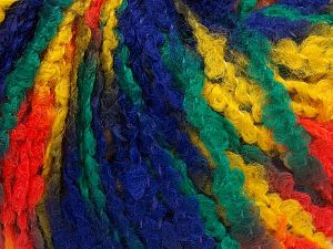 Fiber Content 40% Wool, 40% Acrylic, 20% Polyamide, Yellow, Purple, Orange, Brand Ice Yarns, Green, Yarn Thickness 4 Medium  Worsted, Afghan, Aran, fnt2-65528