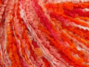 Fiber Content 40% Wool, 40% Acrylic, 20% Polyamide, Orange Shades, Brand Ice Yarns, Yarn Thickness 4 Medium  Worsted, Afghan, Aran, fnt2-65530