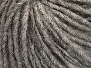 Fiber Content 50% Merino Wool, 25% Acrylic, 25% Alpaca, Brand Ice Yarns, Grey, Yarn Thickness 5 Bulky  Chunky, Craft, Rug, fnt2-65548