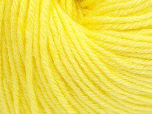Fiber Content 40% Merino Wool, 40% Acrylic, 20% Polyamide, Light Yellow, Brand Ice Yarns, Yarn Thickness 2 Fine  Sport, Baby, fnt2-65571
