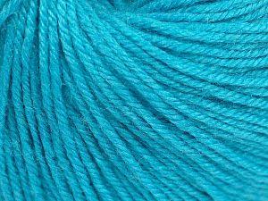 Fiber Content 40% Merino Wool, 40% Acrylic, 20% Polyamide, Turquoise, Brand Ice Yarns, Yarn Thickness 2 Fine  Sport, Baby, fnt2-65579