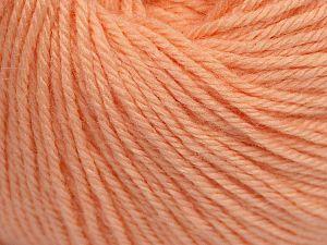 Fiber Content 40% Merino Wool, 40% Acrylic, 20% Polyamide, Light Salmon, Brand Ice Yarns, Yarn Thickness 2 Fine  Sport, Baby, fnt2-65587