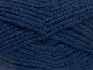 Fiber Content 50% Wool, 50% Acrylic, Brand Ice Yarns, Dark Blue, fnt2-65607