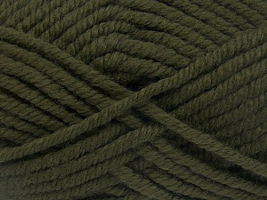 Contenido de fibra 50% Acrílico, 50% Lana, Brand Ice Yarns, Dark Khaki, Yarn Thickness 6 SuperBulky Bulky, Roving, fnt2-65610
