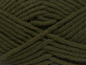 Contenido de fibra 50% Acrílico, 50% Lana, Khaki, Brand Ice Yarns, Yarn Thickness 6 SuperBulky Bulky, Roving, fnt2-65611
