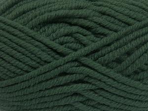 Contenido de fibra 50% Acrílico, 50% Lana, Brand Ice Yarns, Dark Green, Yarn Thickness 6 SuperBulky Bulky, Roving, fnt2-65614