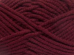 Contenido de fibra 50% Acrílico, 50% Lana, Brand Ice Yarns, Burgundy, Yarn Thickness 6 SuperBulky Bulky, Roving, fnt2-65616