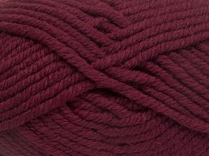 Contenido de fibra 50% Acrílico, 50% Lana, Brand Ice Yarns, Burgundy, Yarn Thickness 6 SuperBulky Bulky, Roving, fnt2-65617