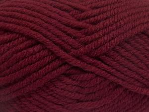 Contenido de fibra 50% Acrílico, 50% Lana, Brand Ice Yarns, Burgundy, Yarn Thickness 6 SuperBulky Bulky, Roving, fnt2-65619