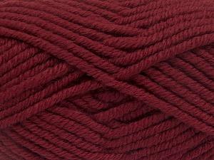 Contenido de fibra 50% Acrílico, 50% Lana, Brand Ice Yarns, Burgundy, Yarn Thickness 6 SuperBulky Bulky, Roving, fnt2-65620
