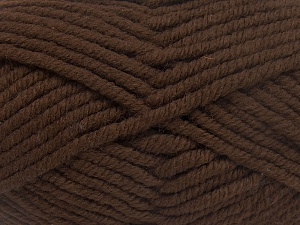 Contenido de fibra 50% Acrílico, 50% Lana, Brand Ice Yarns, Dark Brown, Yarn Thickness 6 SuperBulky Bulky, Roving, fnt2-65621