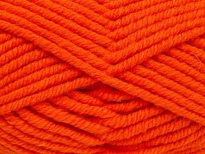 Fiber Content 50% Wool, 50% Acrylic, Orange, Brand Ice Yarns, fnt2-65632