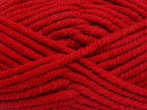 Fiber Content 50% Wool, 50% Acrylic, Red, Brand Ice Yarns, fnt2-65638