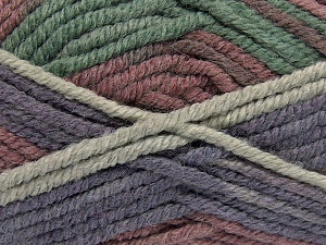 Fiber Content 50% Wool, 50% Acrylic, Maroon, Lilac, Brand Ice Yarns, Green Shades, fnt2-65639