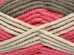 Contenido de fibra 50% Acrílico, 50% Lana, Salmon Shades, Brand Ice Yarns, Camel, Beige, Yarn Thickness 6 SuperBulky Bulky, Roving, fnt2-65642