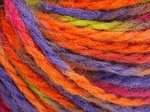 Fiber Content 50% Wool, 50% Acrylic, Orange, Lilac, Light Green, Brand Ice Yarns, Fuchsia, Yarn Thickness 4 Medium Worsted, Afghan, Aran, fnt2-65657