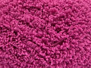 Fiber Content 100% Micro Polyester, Brand Ice Yarns, Fuchsia, Yarn Thickness 5 Bulky Chunky, Craft, Rug, fnt2-65669
