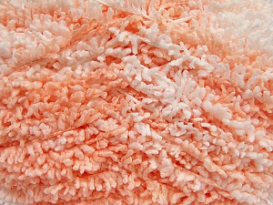 Fiber Content 100% Micro Polyester, White, Light Salmon, Brand Ice Yarns, Yarn Thickness 5 Bulky  Chunky, Craft, Rug, fnt2-65682