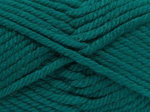 Fiber Content 75% Acrylic, 25% Superwash Wool, Brand Ice Yarns, Emerald Green, Yarn Thickness 6 SuperBulky Bulky, Roving, fnt2-65693