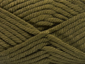 Fiber Content 75% Acrylic, 25% Superwash Wool, Khaki, Brand Ice Yarns, Yarn Thickness 6 SuperBulky Bulky, Roving, fnt2-65694