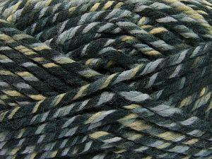 Fiber Content 75% Acrylic, 25% Superwash Wool, Khaki Shades, Brand Ice Yarns, Grey Shades, Yarn Thickness 6 SuperBulky Bulky, Roving, fnt2-65756