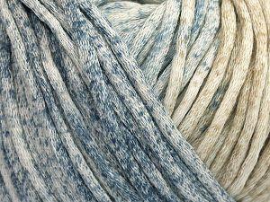Fiber Content 67% Cotton, 33% Polyamide, Light Khaki, Brand Ice Yarns, Cream, Blue, fnt2-65785