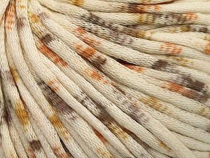 Fiber Content 67% Cotton, 33% Polyamide, Brand Ice Yarns, Gold, Cream, Brown, fnt2-65787