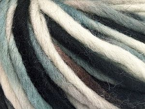 Fiber Content 100% Wool, Light Turquoise, Brand Ice Yarns, Cream, Camel, Black, fnt2-65794