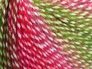 Fiber Content 40% Polyamide, 35% Acrylic, 15% Mohair, 10% Metallic Lurex, Red, Pink, Brand Ice Yarns, Green, Yarn Thickness 3 Light DK, Light, Worsted, fnt2-65809