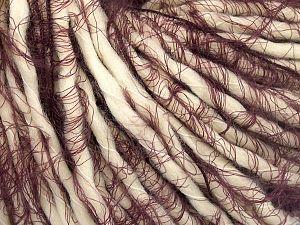 Fiber Content 40% Polyamide, 30% Acrylic, 30% Wool, Maroon, Brand Ice Yarns, Cream, fnt2-65827