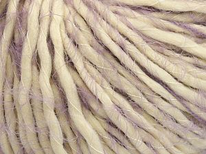 Fiber Content 40% Polyamide, 30% Acrylic, 30% Wool, Light Lilac, Brand Ice Yarns, Cream, fnt2-65828