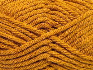 Fiber Content 100% Acrylic, Brand Ice Yarns, Gold, Yarn Thickness 6 SuperBulky Bulky, Roving, fnt2-65834