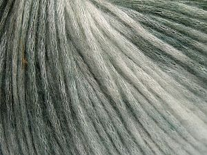 Fiber Content 50% Modal, 35% Acrylic, 15% Wool, White, Brand Ice Yarns, Green Shades, Yarn Thickness 4 Medium Worsted, Afghan, Aran, fnt2-65847