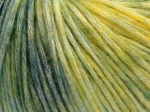 Fiber Content 50% Modal, 35% Acrylic, 15% Wool, Yellow, Brand Ice Yarns, Green Shades, Yarn Thickness 4 Medium Worsted, Afghan, Aran, fnt2-65848