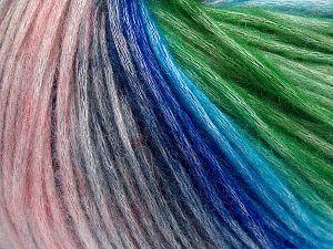 Fiber Content 50% Modal, 35% Acrylic, 15% Wool, Pink Shades, Brand Ice Yarns, Green, Blue Shades, Yarn Thickness 4 Medium Worsted, Afghan, Aran, fnt2-65855