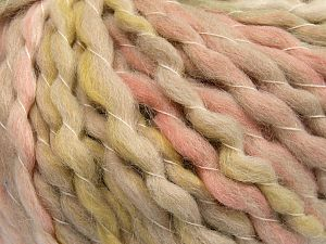 Fiber Content 70% Premium Acrylic, 15% Alpaca, 15% Wool, Light Pink, Light Green, Brand Ice Yarns, Beige, Yarn Thickness 6 SuperBulky Bulky, Roving, fnt2-65911