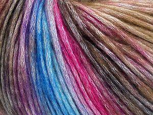 Fiber Content 50% Modal, 35% Acrylic, 15% Wool, Brand Ice Yarns, Fuchsia, Brown Shades, Blue Shades, Yarn Thickness 4 Medium Worsted, Afghan, Aran, fnt2-65918