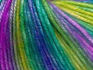 Fiber Content 56% Polyester, 44% Acrylic, Lilac, Brand Ice Yarns, Green Shades, Blue, Yarn Thickness 4 Medium Worsted, Afghan, Aran, fnt2-65936