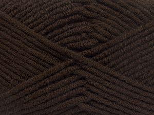 Fiber Content 50% Merino Wool, 50% Acrylic, Brand Ice Yarns, Coffee Brown, Yarn Thickness 5 Bulky Chunky, Craft, Rug, fnt2-65941