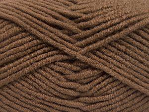 Fiber Content 50% Merino Wool, 50% Acrylic, Brand Ice Yarns, Brown, Yarn Thickness 5 Bulky Chunky, Craft, Rug, fnt2-65943