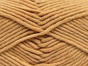 Fiber Content 50% Merino Wool, 50% Acrylic, Light Brown, Brand Ice Yarns, Yarn Thickness 5 Bulky Chunky, Craft, Rug, fnt2-65946