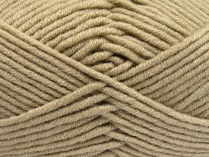 Fiber Content 50% Acrylic, 50% Merino Wool, Brand Ice Yarns, Beige, Yarn Thickness 5 Bulky Chunky, Craft, Rug, fnt2-65947