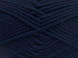 Fiber Content 50% Merino Wool, 50% Acrylic, Navy, Brand Ice Yarns, Yarn Thickness 5 Bulky Chunky, Craft, Rug, fnt2-65948