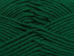 Fiber Content 50% Merino Wool, 50% Acrylic, Brand Ice Yarns, Dark Green, Yarn Thickness 5 Bulky Chunky, Craft, Rug, fnt2-65949